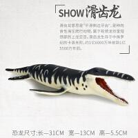 沧龙滑齿龙儿童男女孩礼物实心仿真海底恐龙玩具塑胶动物恐龙模型