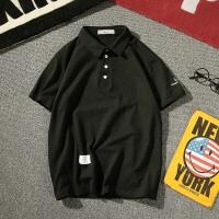 夏季带领短袖T恤男POLO衫加肥大码有领衬衫胖子打底衫