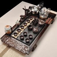 家用茶具整套乌金石实木茶盘全自动茶具套装