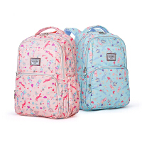 卡拉羊双肩包208新款背包高中学生小学生书包女韩版校园初中生CX5357