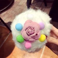 -冬季甜美可爱彩色花朵耳套卡通小泰迪熊护耳罩保暖挂耳包耳捂
