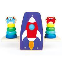 婴儿智力彩虹圈玩具宝宝层层叠叠乐套塔杯套环圈平衡儿童1-2-3岁