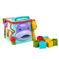 费雪(Fisher-Price) 婴儿早教玩具宝宝学习桌玩具 儿童礼物儿童节礼物 探索学习六面盒(CMY28)
