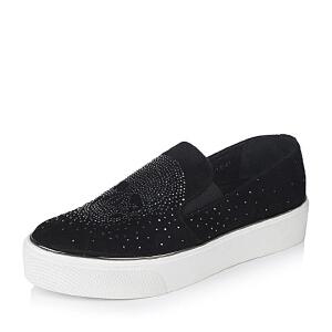 Teenmix/天美意专柜同款羊绒皮革女皮鞋6I727CM6女乐福鞋