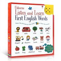 现货 Usborne 点读书触摸可发声英语单词卡片 Listen and Learn English Words 儿童英文原版单词卡 启蒙认知书 儿童读物 幼儿早教教材有声书