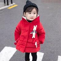 女童冬装棉衣外套2018新款女宝宝加厚羽绒棉袄婴儿童加绒冬季
