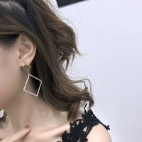 欧美夸张几何大耳环女韩国耳饰个性潮人气质耳钉性感夜店长款耳坠
