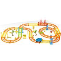 电动带LED灯光小车夜光儿童轨道车玩具儿童节礼物