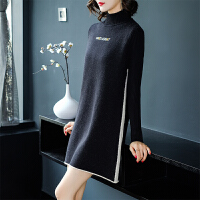 羊毛衫女韩版宽松中长款羊绒衫秋冬毛衣套头打底衫潮