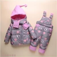 冬季2018新款宝宝羽绒服套装1-3岁婴幼儿款冬季女男童装儿童外套秋冬新款