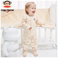PWU1733009大嘴猴(Paul Frank) 婴儿长袖对襟 圆领纯棉 连身衣1入装
