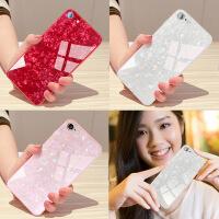 苹果6s手机壳iPhone6硅胶女7plus玻璃壳8p仙女贝壳全包挂绳