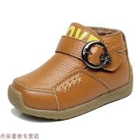 冬季男童棉鞋冬季加绒小童鞋学步宝宝鞋儿童棉鞋中小童皮鞋男童鞋秋冬新款