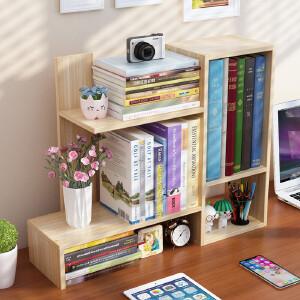 幽咸家居 简易桌上小书架学生用桌面儿童置物架简约现代办公收纳架创意书柜