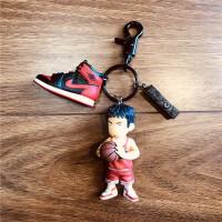 篮球钥匙挂件日本灌篮高手AJ1钥匙扣抖音网红同款书包小挂件球鞋子模型diy挂饰