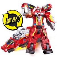 巨神战击队3玩具超救分队变形小号机器人男孩旋天爆裂冲锋战击王 高约21cm