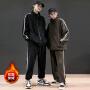 潮牌卫衣套装男2019秋冬季新款韩版休闲男帅气运动服两件套男装