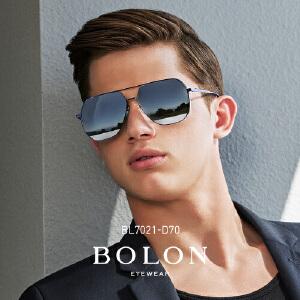 BOLON暴龙2018新款复古蛤蟆镜男金属框太阳镜革新墨镜眼镜BL7021