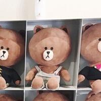 布朗熊可妮兔毛绒玩具熊抱枕布娃娃女生玩偶大号生日礼物