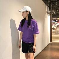 2018新款印花英文字母t恤女短袖韩范bf原宿风学生ins同款个性上衣