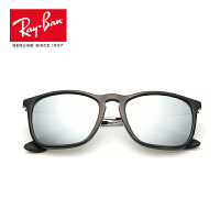 RayBan雷朋太阳眼镜男女款方形个性前卫彩膜反光镜面0RB4187F超轻 601/30