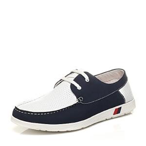 Belle/百丽专柜同款夏季时尚休闲男单鞋4KR01BM6