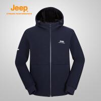 【特惠价】Jeep/吉普 男士户外运动休闲针织夹克开衫外套J832096129
