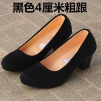 老北京布鞋女鞋单春秋款服务员酒店礼仪软底舒适黑色工作