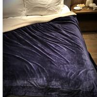 欧式纯色羊羔绒毯子 珊瑚绒午休毯加厚法兰绒盖毯 床品