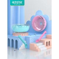 硅胶吸盘碗勺儿童碗防摔防烫餐具宝宝专用餐盘婴儿碗勺套装辅食碗