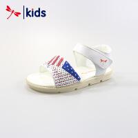 红蜻蜓童鞋男童凉鞋夏季真皮沙滩鞋中童儿童休闲凉鞋子