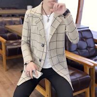 春秋季男士针织衫开衫中长款帅气外套长袖薄毛衣韩版潮流男装秋装