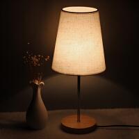 简约日式 温馨暖光阅读 布艺可调节木质 时尚小台灯