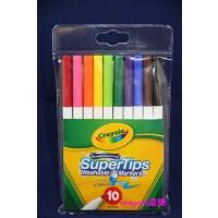 美国 [Crayola绘儿乐]10色可水洗细杆水彩笔马克笔58-8610