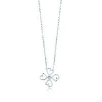 【当当自营】 蒂芙尼(Tiffany & Co.) 新款纯银心形四叶草吊坠项链 34506132