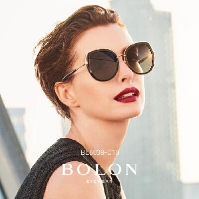 BOLON暴龙2018新款太阳镜金属板材框墨镜女明星同款眼镜BL6038匠心护目 品质暴龙