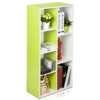 [当当自营]慧乐家 书柜书架 彩色七格柜 多用收纳储物展示柜 绿色+白色 11048-2