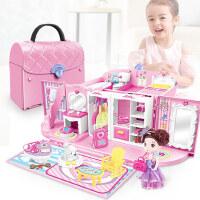 小伶玩具娃娃屋小别墅公主房子厨房过家家女孩儿童生日礼物3-6岁