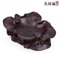 实木客厅水果盘摆件结婚工艺品黑檀木时尚创意果盘