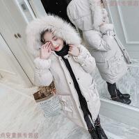 女童棉衣2018冬装新款中大童韩版时尚儿童中长款羽绒棉袄外套
