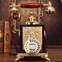 欧式实木仿古电话机 美式创意复古 家用工艺礼品座机 座机