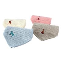 特兰斯动物乐园长绒棉纯色纯棉毛巾浴巾