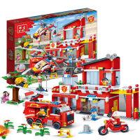 积木拼装玩具城市警察消防系列拼装飞机小颗粒塑料拼插模型玩具男孩玩具