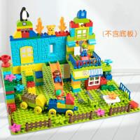 积木玩具拼装大颗粒儿童3-6周岁宝宝益智男孩子10女孩legao 桶装-160颗粒 送图册