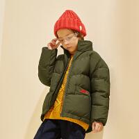 【2件3折:139】巴拉巴拉旗下巴帝巴帝19年冬保暖加厚儿童棉服中大童男童棉衣外套休闲
