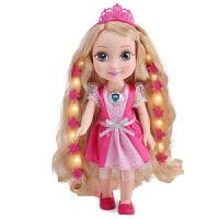 挺逗 冰雪奇缘 冰雪公主会闪光讲故事唱歌的智能娃娃儿童玩具 66046