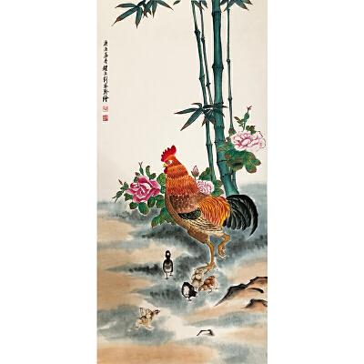 刘奎龄《一家亲》著名画家