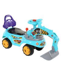 儿童玩具挖掘机1-3岁可坐可骑宝宝大号挖机音乐工程学步车男孩挖土机 带音乐-带灯光