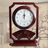 双面钟表客厅大号静音坐钟时钟摆件石英钟座钟台钟实木复古新中式