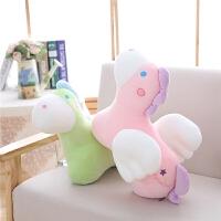 小飞马抱枕公仔天使小马毛绒玩具玩偶布娃娃睡觉抱枕生日礼物
